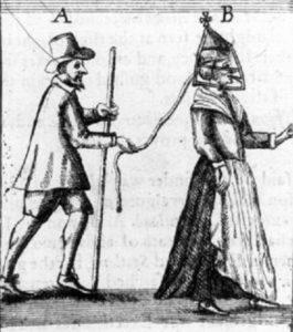 Marito che infligge la punizione