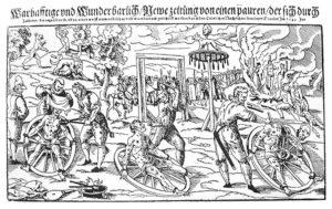 Incisione di Lukas Mayer 1589 Peter Stubb alla ruota