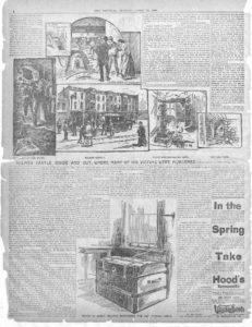 Giornale dell'epoca con storia di Holmes